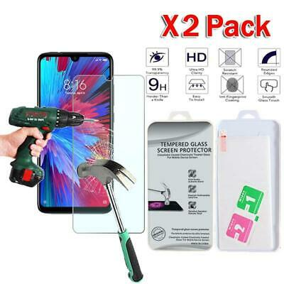 $3.99 • Buy X2 Pack Tempered Glass Screen Protector Cover For Xiaomi Redmi Note 7 India