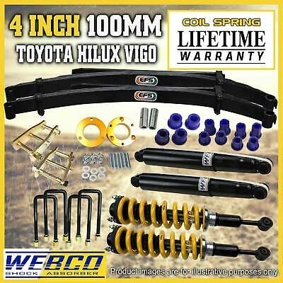 AU1150 • Buy 4 Inch 100mm Pre Assembled Lift Kit EFS Leaf King For Toyota Hilux KUN26 GGN25