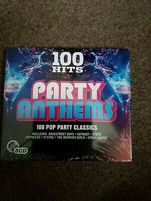 Various - 100 Hits: Party Anthems (2016)  5CD  NEW/SEALED  SPEEDYPOST • 3.50£