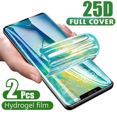 2PC For Huawei P30 Pro P20 Mate 20 Pro Hydrogel Protective Film Screen Protector • 3.49£