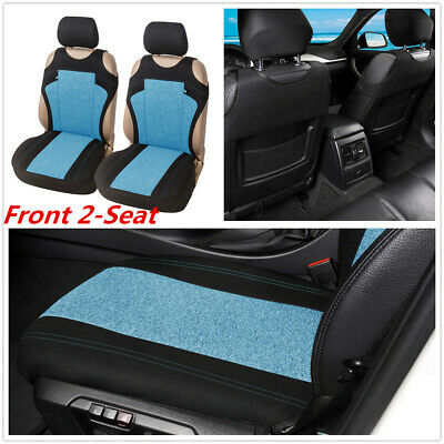 $ CDN35.32 • Buy T-shirt Design Cationic Fabric Car Front 2-Seat Cover Protector Accessories