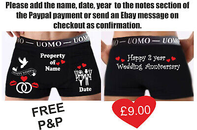 Wedding Gift Personalised Boxer Shorts Anniversary Groom Party Funny Sexy • 9£