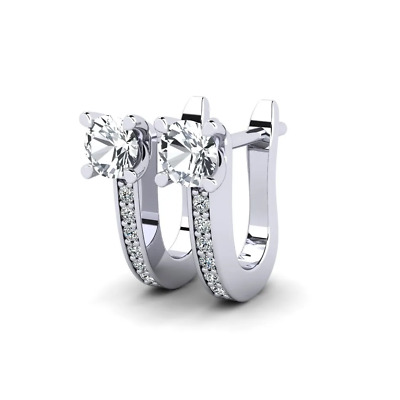 £14 • Buy 0.8Ct Signity Diamond Drop Earrings Crafted In 925 Sterling Silver