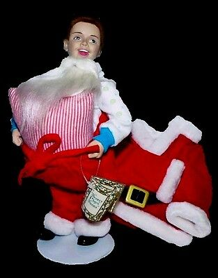 $21.99 • Buy Norman Rockwell 1st Issue Scotty Plays Santa Xmas Porcelain Doll W/ Cert. Rhodes