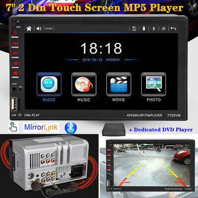 AU135.27 • Buy 7  Car 2 Din Stereo Bluetooth Touch Screen Phone Mirror Link Rearview MP5 Player