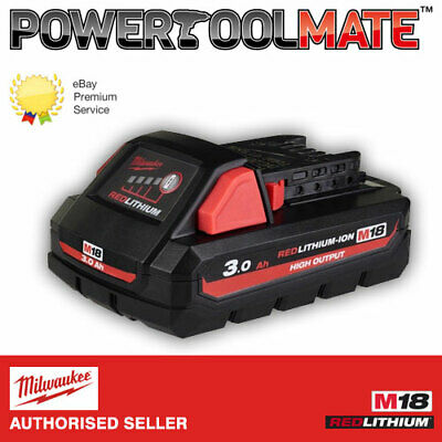 Milwaukee M18HB3 M18 3.0Ah REDLITHIUMION HIGH OUTPUT Battery • 67.99£