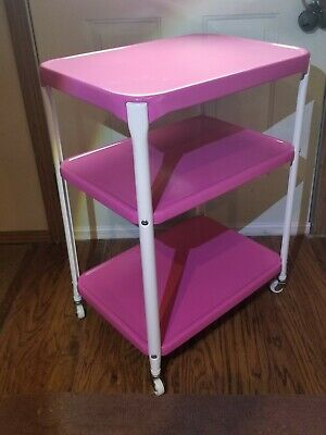 $138.99 • Buy Vintage COSCO CART MID CENTURY 3 TIER  SERVING UTILITY GORGEOUS PINK COLOR NICE!