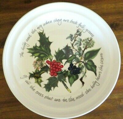 Multiples Avail, New Nwt Portmeirion The Holly & Ivy Dinner Plate, Xmas Holiday • 22.99$