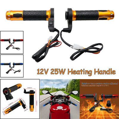 $18.99 • Buy 7/8'' Motorcycle Handlebar Electric Hot Heated Grips Hand Heating Motorbike Warm
