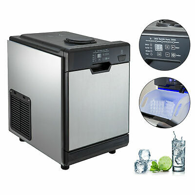 $318.98 • Buy 78LBS Ice Maker Ice Making Machine W/ Cool Water Dispenser 2 Filters Stain Steel