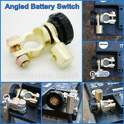 Battery Isolator Switch Cut Off Angled Universal - Space Saver - Quick • 4.94£