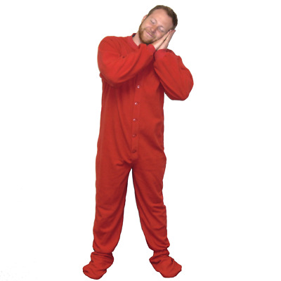 $38.24 • Buy Adult Footed Pajamas (Choose Your Color & Size) Footie Drop Seat Mens Womens PJs