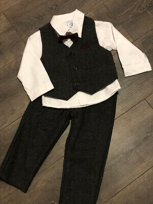 £25 • Buy Baby Babies Boys Wedding Occasion Suit Tie Shirt Outfit 6-12m 12-18m 18-24m