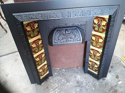 Victorian Style Cast Iron Tiled Fireplace • 150£