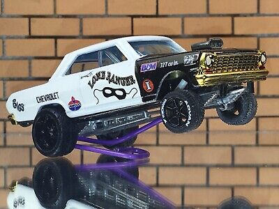 Hot Wheels 63 Chevy II CUSTOM GASSER-EXTREMELY DETAIL-Decal-Paint-RR-FREE SHIP • 19.99$