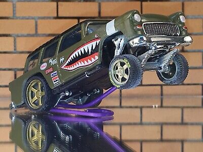 Hot Wheels 55 Nomad Flying Tiger CUSTOM GASSER- DETAIL-Decal-Paint-RR-FREE SHIP • 19.99$