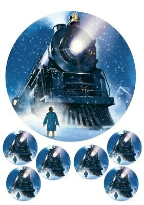 The Polar Express Cake And Cupcake Toppers, Christmas, Snow, Marry Christmas • 3.99£
