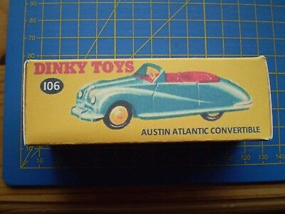 £4.10 • Buy Dinky Toy Repro Box Only For No 106 Austin Atlantic Convertible