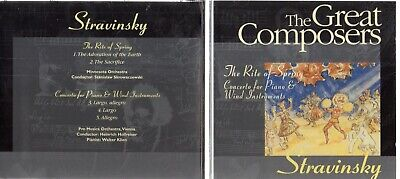 £1.95 • Buy STRAVINSKY - THE RITE OF SPRING (The Great Composers CD Series)