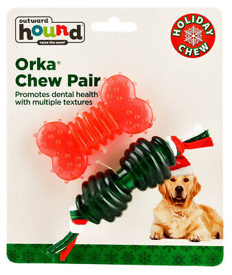 £7.04 • Buy Orka Holiday Chew Pair By Outward Hound - Durable Chew Toy - Small