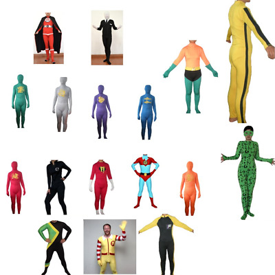£22.32 • Buy Halloween Body Suit Costumes (Choose Your Character) Movie TV Shows Lycra Adult