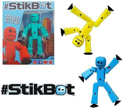 2 X Boxed Stikbot Robot - Stikbots - Stop Motion Animation Stickbot Colours Vary • 9.99£