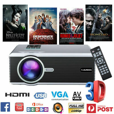 AU115.99 • Buy 5000 Lumens 3D LED Projector 1080P Full HD Multimedia Home Cinema Theater HDMI