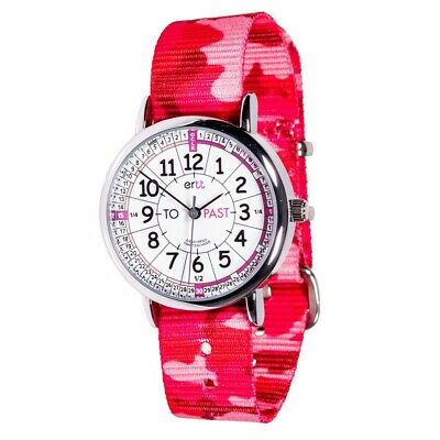£22.99 • Buy Childrens Easyread Learn To Tell The Time Watch Pink Camo