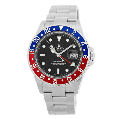 $ CDN15170.59 • Buy ROLEX Stainless Steel GMT Master II Pepsi 40mm 16710 Box Warranty Papers MINTY