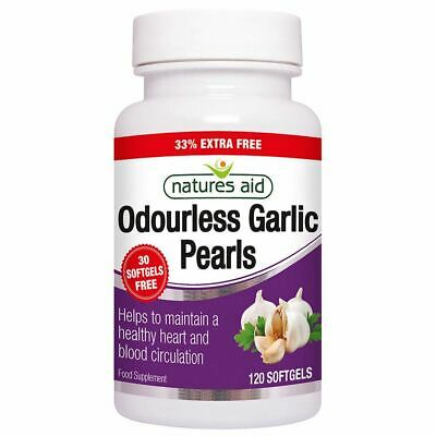 £7.92 • Buy Natures Aid Garlic Pearls (Odourless) One-a-day 90 Tablets + 33% Extra Free New
