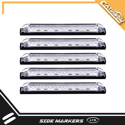 5X 8  Clear Lens Blue Underwater Led Light 18 LED Utility Strip Light RV Boat • 18.50$