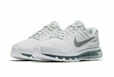 Nike Air Max 2017 Running Shoes White Platinum Wolf Gray 849559-009 Men's NEW Ds • 109.99$