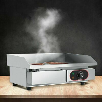 New Electric Griddle Large Twin Hotplate Commercial Burgar Grill Bacon Egg Fryer • 66.99£