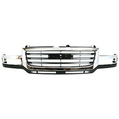 $298.90 • Buy Grille 03-07 For GMC Sierra 2500/3500 HD Chr Shell W/Black Insert Fit 07 Classic