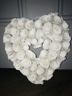 LOVE HEART WREATH HANGING WEDDING BIRTHDAY PARTY Wall Window Decoration GIFT New • 19.95£
