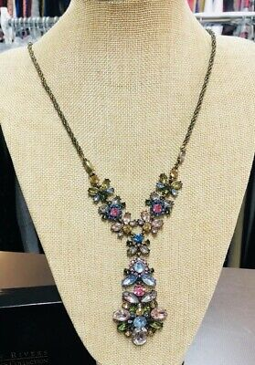 Joan Rivers Jeweled Bouquet Statement Necklace - Multi • 14.99$