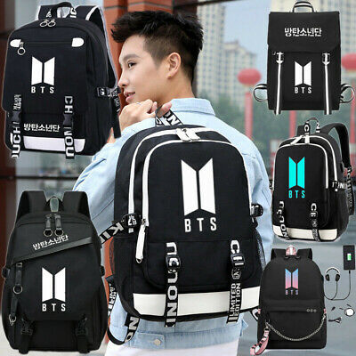 $23.99 • Buy KPOP BTS Bangtan Boys Backpack School Laptop Travel Nylon Shoulder Bag W/USBPort
