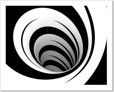 $19.95 • Buy Abstract Black And White Spiral Art Print Home Decor Wall Art Poster - K