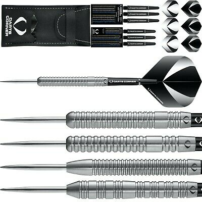 Darts Set 21g 22g 23g 24g 25g 26g Grams Tungsten Gallant Silver Ringed • 19.95£