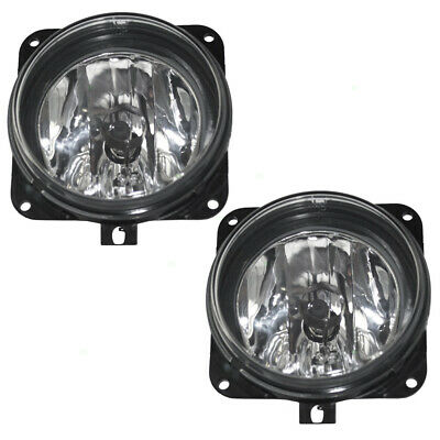 $60.84 • Buy Pair Set Fog Lights Lamps Round Lens Assembly SAE For Focus Mustang Escape LS