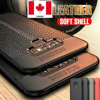 $ CDN5.99 • Buy Luxury Silicone Rubber TPU Leather Back Cover Case For Samsung Galaxy S8 S9 Plus