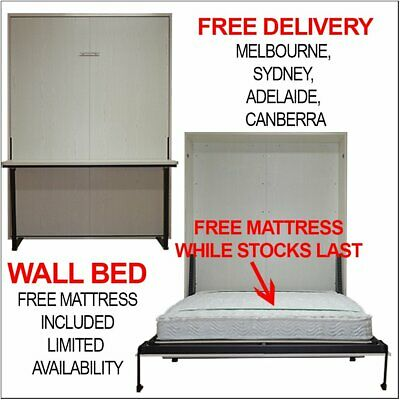 AU1099 • Buy Queen Wall Bed Murphy Bed Fold Down Bed Slow Action Open Mechanism Free Mattress