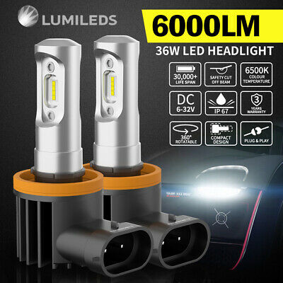 AU59.95 • Buy Pair  H11 6000LM Led Headlight Kit High/Low Beam Vehicle Replace Halogen Xenon