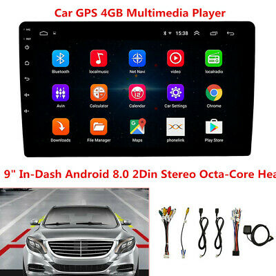 $189.99 • Buy 9  In-Dash Car GPS Navigation Android 8.0 2 Din Stereo Radio Player Octa-Core