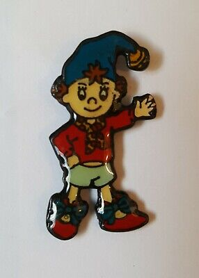 Noddy With Blue Hat Smiling & Waving - Collectors Vintage Enamel Pin Badge #5 • 4.90£
