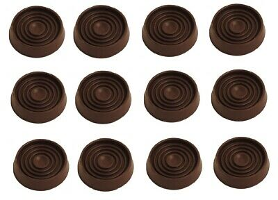12 X NON SLIP LARGE CASTOR CUP Brown Cap/Feet/Sofa/Caster FURNITURE PROTECTOR • 6.79£