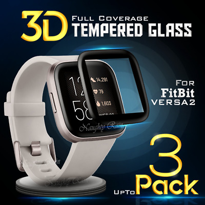 $ CDN5.60 • Buy For Fitbit Versa 2 2019 Screen Protector Tempered Full Coverage Glass Guard