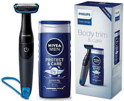 AU59.95 • Buy Philips BG1024/80 Series 1000 Battery Operated Body Shaver/Hair Trimmer+Nivea Me