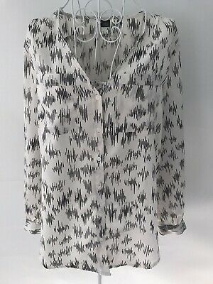 AU9.99 • Buy URBAN OUTFITTERS SPARKLE & FADE Sz M 12 Womens Black White Top Sheer Casual Work