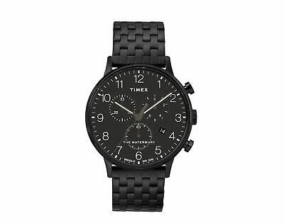 $158.95 • Buy Timex Waterbury Classic Chrono 40mm Steel Black/Black Watch TW2R72200VQ